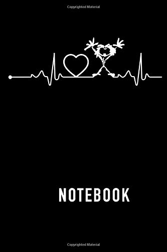 Notebook: Pearl Jam Heartbeat Notebook & Journal   Size 6in x 9in x 110 pages Lined Pages Notebook White Paper Blank Journal with Black Cover for Fans or Men and Women