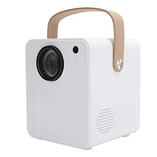Zunate Mini Beamer, Voltage 100-240V YJ350S Home Cinema Beamer Portable 1080P HD Smart Projector with 30,000 Hours Lamp Life,for Android/IOS/TV Laptop/USB/Memory Card(UK plug)