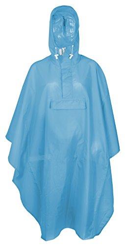 FastRider - Poncho anti-pluie ultra résistant et 100% waterproof, Adulte Unisexe, Bleu, Taille unique