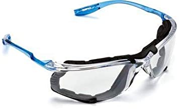 3M Safety Glasses, Virtua CCS Protective Eyewear 11872, Removable Foam Gasket, Clear Anti-Fog Lenses, Corded Ear Plug Cont...