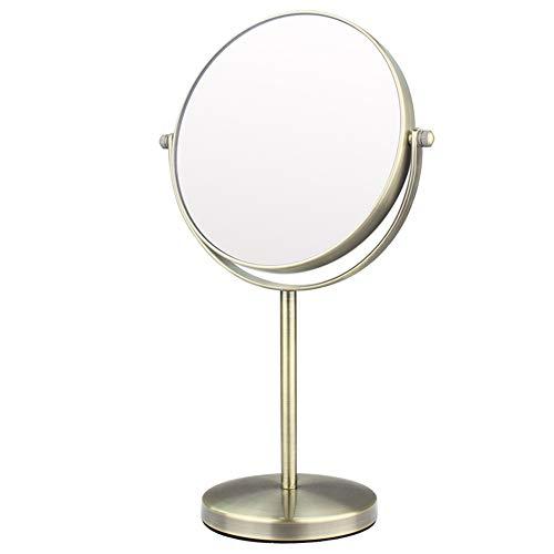 Espejo De Aumento/Espejo Cosmético De Aumento 3X, Espejo De Maquillaje, Mesa De Metal De Doble Cara Que Afeita El Espejo - 6 Pulgadas
