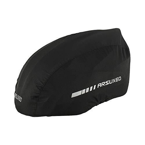 Lixada wasserdichte Fahrradhelm-Abdeckung mit reflektierenden Streifen, Fahrradhelm-Regenschutz, Rennrad-Helm, Wasser-Schnee-Abdeckung