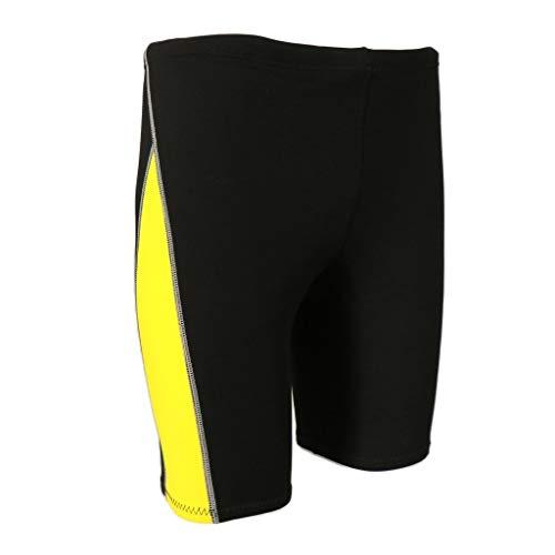 Z.L.FFLZ Nadelanzug Männer Wetsuit Shorts Super Stretch Neopren 1.8mm Warm Hose Rash Guard-Badeanzug for Schwimmen Surfen Tauchen Schnorcheln (Color : Gelb, Size : M Blue)