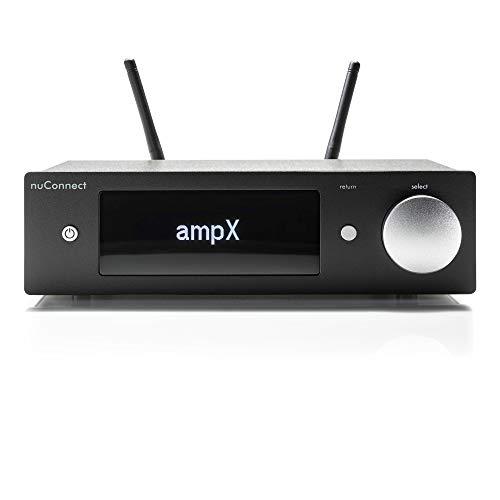 Nubert nuConnect ampX | digitaler Vollverstärker | Wireless Connector für nuPro X | Stereoverstärker mit 2 x 130 W | Phonoverstärker MM/MC mit Bluetooth aptX HD | Verstärker mit USB DAC | Schwarz