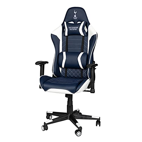 Tottenham Hotspurs FC Sidekick Gaming Chair with Adjustable Height, Soft Padded Backrest and Cushions, Black, Games Room, Gamers Chair, Kids Chair, Office Chair, Football, Premier League, SKGCTHS