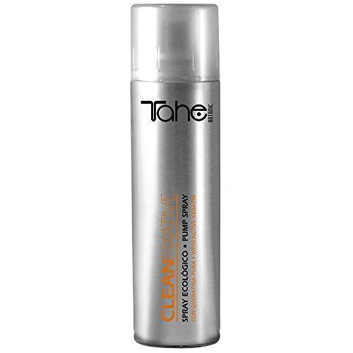 Tahe Botanic Laca Clean Fixative Laca Pelo Profesional Spray Ecológico sin Residuos con Keratina - Strong - 250 ml