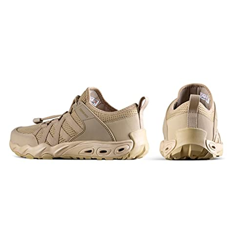 Nsdsb Zapatos Anfibios para Exteriores, Zapatos De Escalada Antideslizantes Transpirables De Malla Ligera para Vadeo, Color Arena 40#
