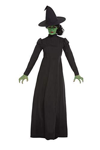 Smiffys 51061M - Disfraz de bruja malvada para mujer, talla M, color negro