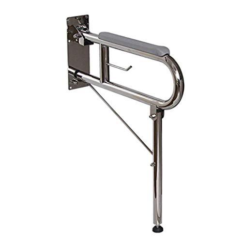 Mjb Handlauf, 60cm Länge Edelstahl U-förmig faltbar rutschfeste Sicherheitsgeländer für ältere Menschen mit Behindertenzugang Bad Duschhandlauf (Color : Parent)