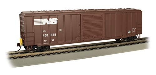 Bachmann Trains - 50' Outside Braced Box Car with Flashing End of Train Device - Norfolk Southern #400028 - HO Scale