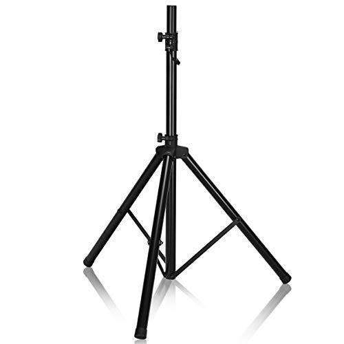 "Costzon PA Speaker Stand PRO Universal Adjustable Height 38""-72"" DJ Tripod Speaker Stand Constructed with Heavy Duty Durable Steel Tubing for Strength Security,1 Set (Black)"