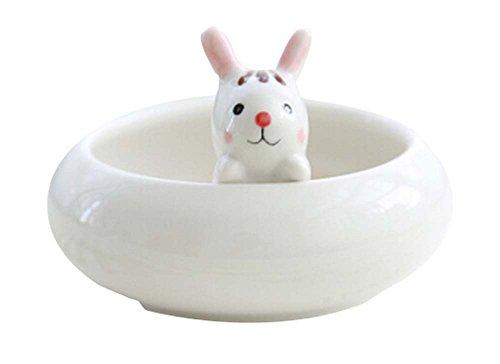 beau lapin Porcelaine Pot/pot de fleur pour maison ou bureau décoration