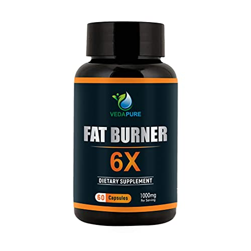 Vedapure Natural Fat Burner 6X Advanced Weight Loss Supplements with Green Coffee Bean Extract, Green Tea Extract and Garcinia Cambogia Extract for Men & Women (Pack of 1)