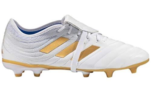 adidas Copa Gloro 19.2 FG Soccer Cleats White/Gold Metallic/Football Blue (9)
