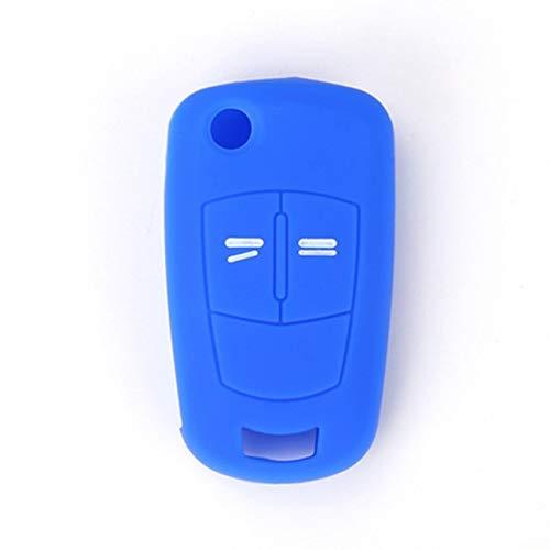 Carcasa de Silicona Caliente para Llavero de Coche para Opel Opel Corsa Astra Vectra Signum 2 Botones Control Remoto Carcasa de Llave Azul
