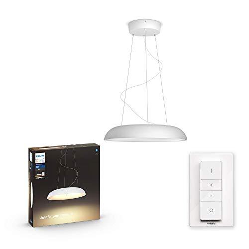 Philips Hue Amaze - Lámpara Colgante Inteligente LED blanca con Bluetooth, Luz Blanca de Cálida a Fría, Compatible con Alexa y Google Home