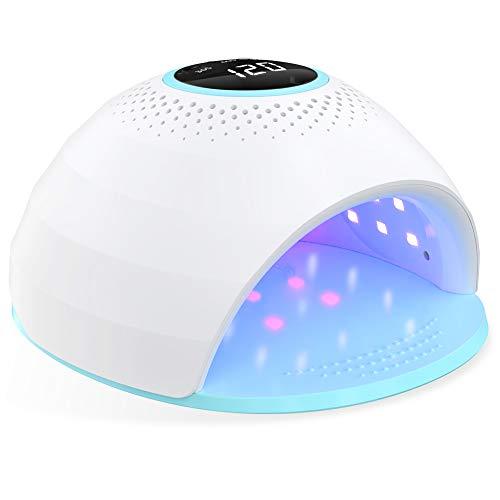 Nageltrockner 84W UV LED Lampe für Gelnägel,Nagellampe mit 30/60/120s Timer, Infrarot Sensor, LCD Display Touchscreen, Geeignet für alle Gel