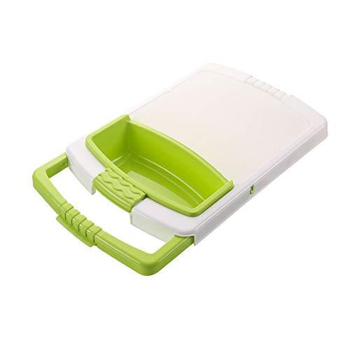 XJJZS Planche à découper multifonctionnelle sur évier , Rangement de tri pour Fruits et légumes , Bloc à hacher Amovible 3 en 1 avec poignées Extensibles