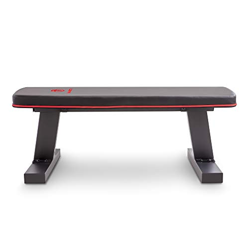 Marcy Deluxe Versatile Flat Bench Workout Utility Bench with Steel Frame SB-10510