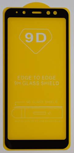 2X Full Cover Schutzglas für Samsung Galaxy A8 2018 in Schwarz Glasfolie 9H 5D 6D 9D Displayschutzfolie Glass Premium Tempered Glass Protection (kein 3D Glas)