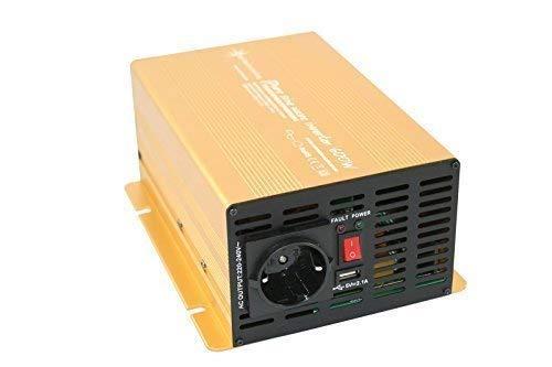 Wechselrichter - Spannungswandler 12V 300 bis 3000 Watt reiner SINUS mit echtem Power USB 2.1A Gold Edition … (600-1200 Watt)