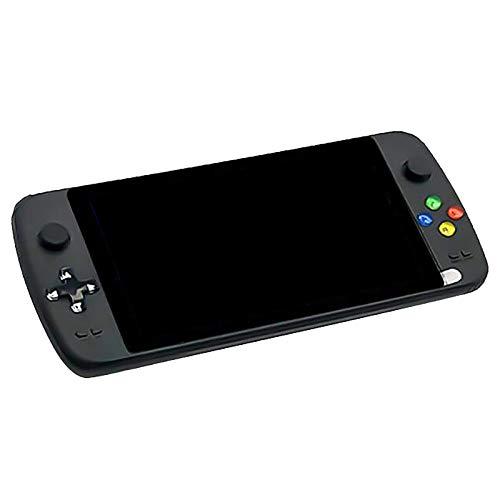 Tamkyo Handheld-Spielekonsole 7-Zoll-Quad-Core-HD-LCD-Bildschirm mit 1,3 GHz 3000 + Tragbare Retro-Spielmaschine 64G-Schwarz für Spiele