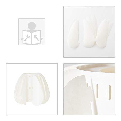 BRILLIANT INNA - Lámpara de pie (155 cm, bambú y plástico, madera clara), color blanco