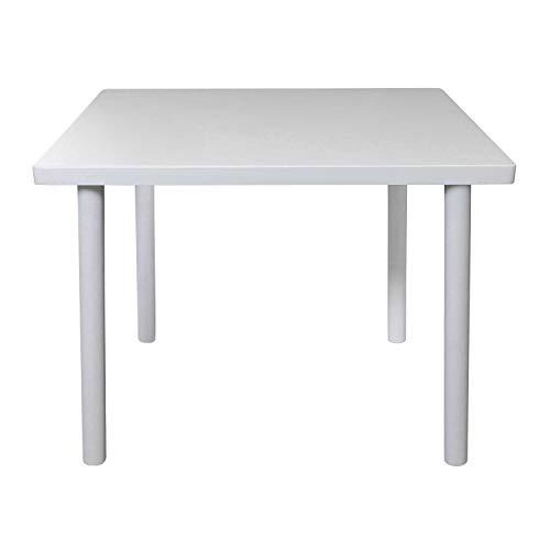 Bubema Kindersitzgruppe massiv, Tisch, Stuhl oder auch als Set in 2 Farben Farbe Weiß, Größe Tisch
