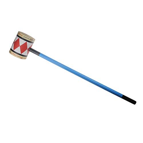 Udekit Spielzeug Waffe Massivholz Hammer für Harley Quinn Frauen Mädchen Cosplay