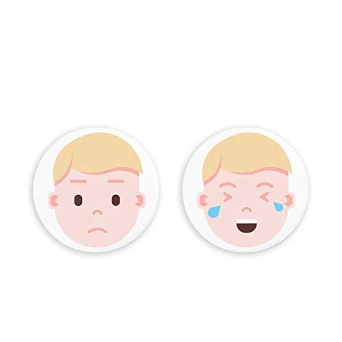 Imanes magnéticos del Mes del refrigerador del Calendario del refrigerador, Paquete de 2 imanes del refrigerador de Emoji Humano, Juego de 2 imanes de Oficina