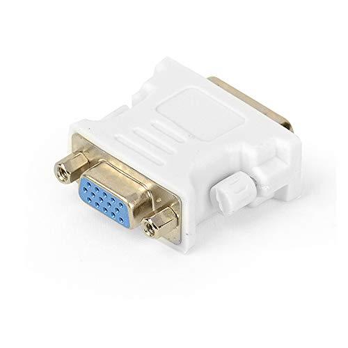 Conversor DVI-VGA macho DVI-I a VGA hembra, adaptador para tarjeta gráfica, conexión de pantalla