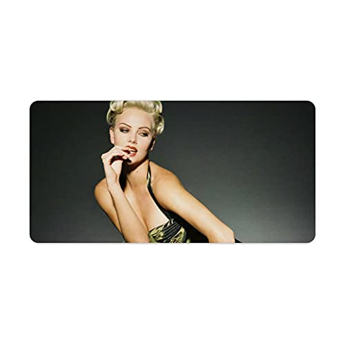 Charlize-Theron Mouse Pad with Non-Slip Rubber Base, Premium Mousepad Table Mats Mouse Pads for Computers, Laptop, Gaming, Office & Home