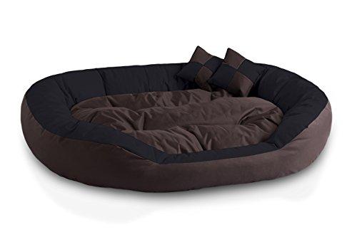 BedDog® 4en1 Saba Marron/Negro XXL Aprox. 110x80cm colchón para Perro, 7 Colores, Cama, sofá, Cesta para Perro