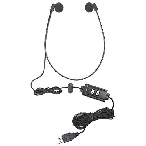 ECS WordHear-O USB Transcription Headset with Under-Chin Design