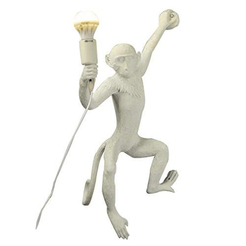 DYJD Creative-AFFE wandlamp, hars AFFE lamp, licht AFFE lamp, geschikt voor eetkamer, slaapkamer, studio, apen, wandlamp