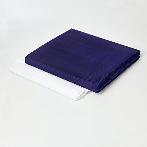 Lumaland Sitzsackhülle ohne Füllung Luxury Riesensitzsack XXL Sitzsack Bezug Hülle PVC Polyester 140 x 180 cm Dunkelblau