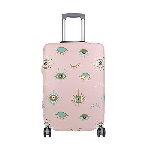 Orediy - Funda elástica para equipaje de viaje, diseño de mal de ojo, color pastel (sin maleta), multicolor (Multicolor) - suitcasecover