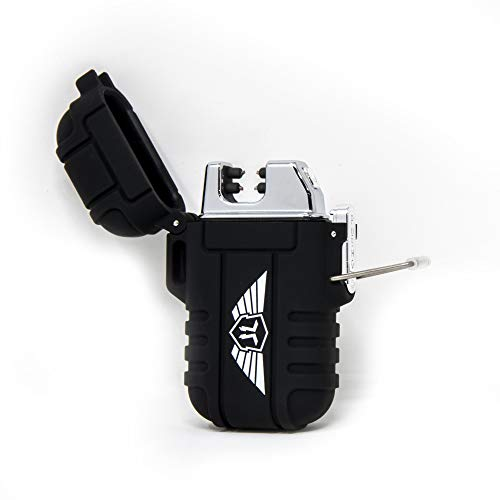 |Stealth Angel| Arc Lighter - Plasma Technology USB Rechargeable Flameless for Camping, Hiking, & Outdoor Adventures (Black)