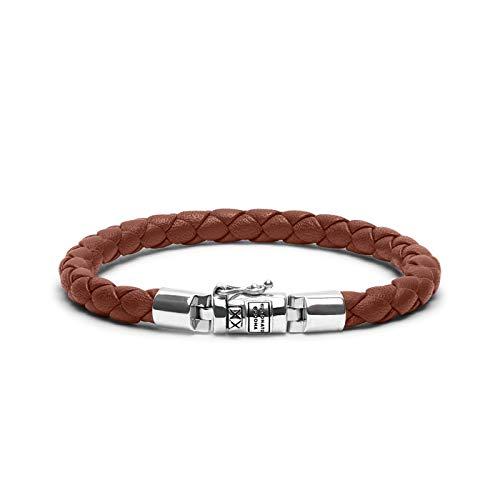 Boeddha to Boeddha, leren armband Ben XS Cognac 23 cm