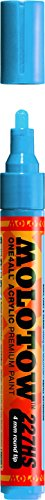 Molotow ONE4ALL Acryl-Marker, 2 mm, stoßblau, 1 Stück (127.205) Paint Marker - 4mm Shock Blue