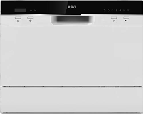 RCA RDW3208 Counter Top Dishwasher, 6 Place Settings, Portable, White
