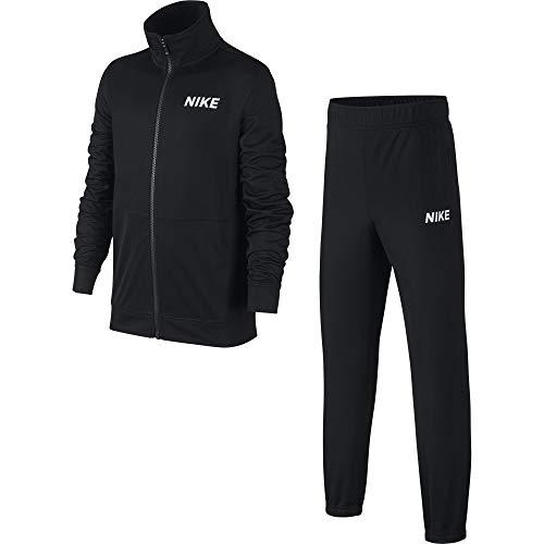 Nike Jungen B NSW POLY Tracksuit, Schwarz (black/White/010), XL