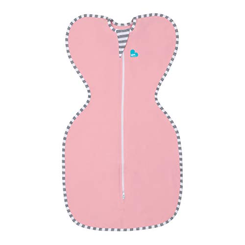 Love To Dream Swaddle UP Original - Inbakerdoek 1.0 TOG – Pink Small (Maat S: 3,2 tot 6 kg) Roze