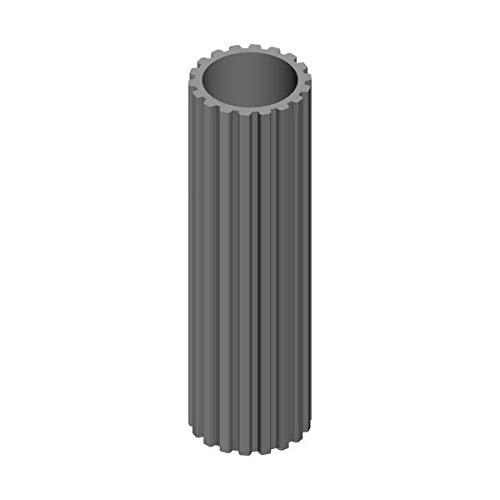 Profilrohr aus Aluminium aussen Vielzahn innen rund 23mm