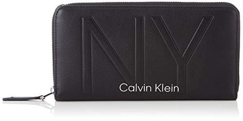 Calvin Klein Damen Shaped Lrg Ziparound Geldbörse, Schwarz (Black), 14x3x22 centimeters
