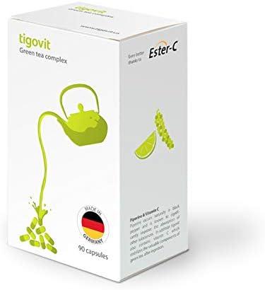 お得セット tigovit Green Tea Extract 160mg EGCG !超美品再入荷品質至上! per Capsule Vitamin C and