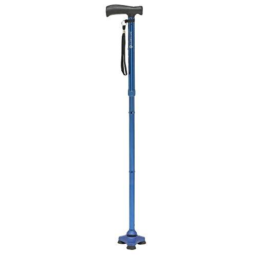 HurryCane HCANE-BK-C2 Freedom Edition Foldable Walking Cane with T Handle, Trailblazer Blue