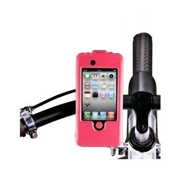 Roze fietshouder met stoere hoes voor Apple iPhone 4 4G 4S door KING OF FLASH(TM)