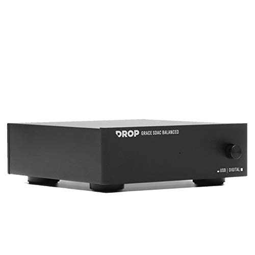 DROP + Grace Design Standard DAC Balanced - Digital-to-Analog Converter with Audiophile XLR, USB-B, 3.5mm Stereo Connectivity, Black
