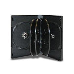 LDB 8 DISC DVD Cases, 27MM, 25 Black, covid 19 (27mm 8 Disc Black Dvd coronavirus)